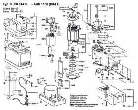 Bosch Dishwasher Spare Parts Uk Bosch Ahr 1100 Spare Parts List Type 0 600 814 042