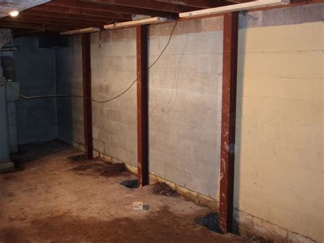 basement steel beams keystone basement systems structural repair inc