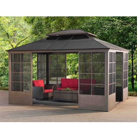 screen gazebo sunjoy v2c screen house gazebo multi steel