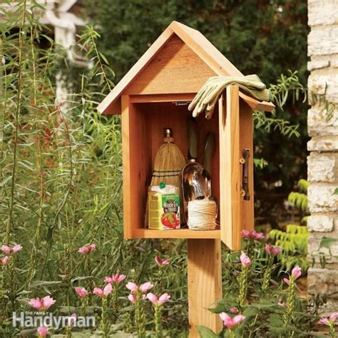 Small Garden Storage Ideas Build A Garden Storage Box The Family Handyman