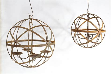 Wrought Iron Sphere Chandelier 20 Quot Wrought Iron Mystic Sphere Candle Chandelier