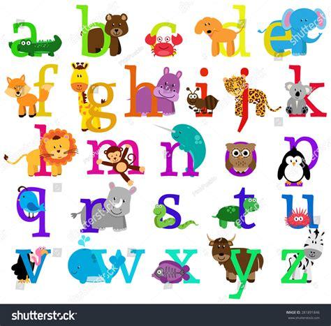animal alphabet stock vector vector animal themed alphabet stock vector 281891846