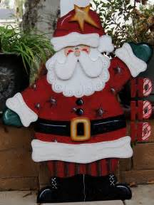 Outdoor Santa Claus Decorations Ho Ho Ho Santa Christmas Yard Decoration Wood Christmas Sign