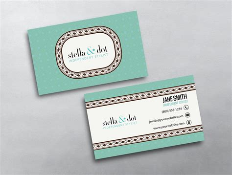 stella and dot business card template stella dot business card 05