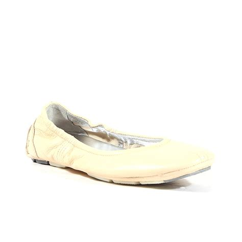 prada shoes for leather ballerina flats beige 3f3632