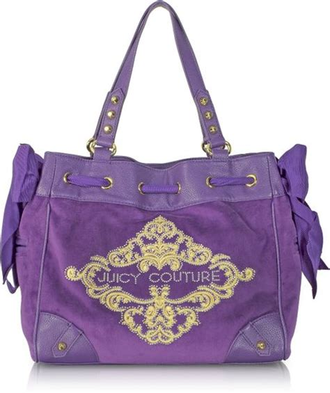 Couture Daydreamer Tote by Couture Large Ornate Velour Daydreamer Tote In