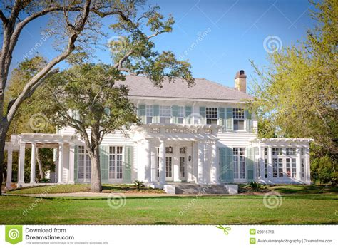 american southern style mansion stock photo image 23815718