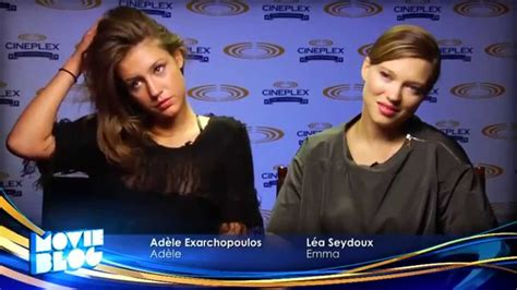lea seydoux youtube interview l 233 a seydoux ad 232 le exarchopoulos tiff interview youtube