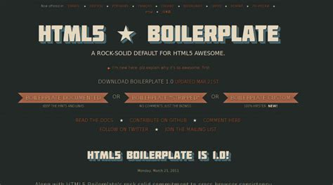 7 boilerplates templates resets for a fresh start