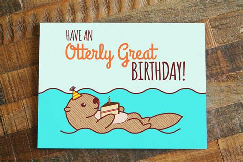 The Cutest Cardsi Just Had To My Newest L 3 by Birthday Card An Otterly Great