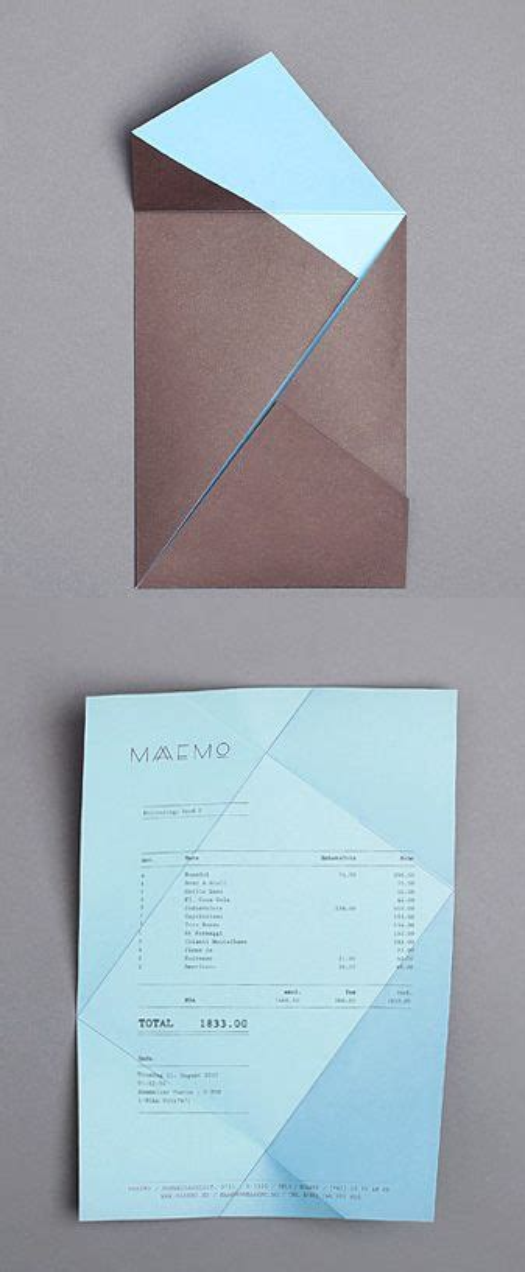 Folded Paper Design - folding receipt maaemo identity by bureau bruneau design