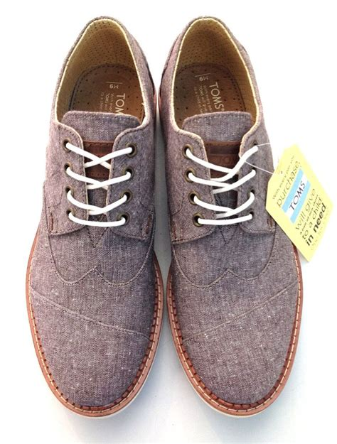 new toms s brown chambray brogue our most popular