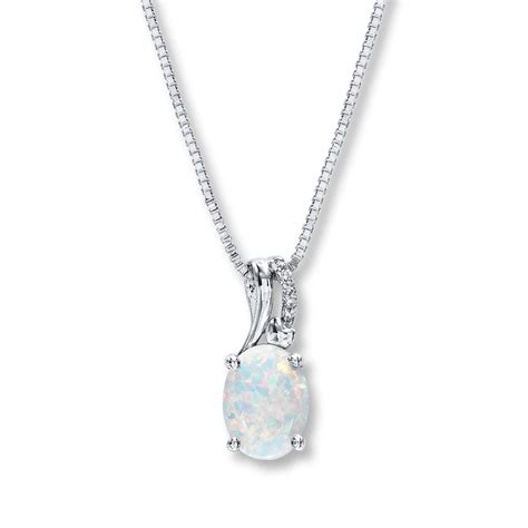 kayoutlet lab created opal necklace accents