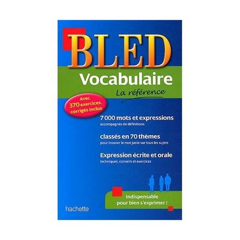 bled vocabulaire bled reference 2010003977 bled vocabulaire