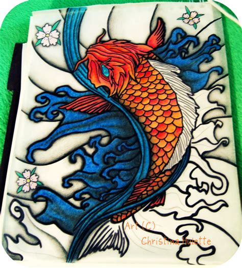 koi fish tattoo design wip by ishankasaurus on deviantart
