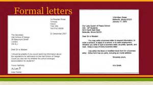 formal informal letters and emails