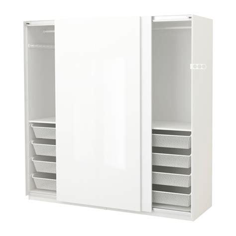 pax wardrobe white hasvik high gloss white 200x66x201 cm