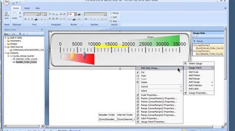 ssrs sle reports 2008 r2 sql report builder 3 0 gauges in ssrs 2008 r2