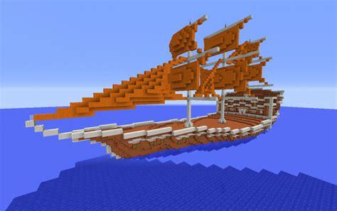 minecraft boat construction orange fantasy ship creation 10048 minecraft
