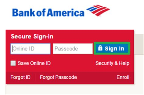 bank of america sign in bank of america banking login banklogindir