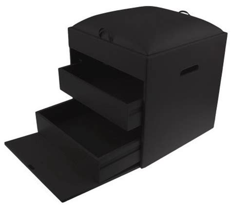 ottoman with removable tray dvd cd storage ottoman with removable tray by lori greiner