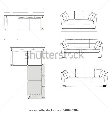 floor plan couch sofa plan drawing clipartxtras