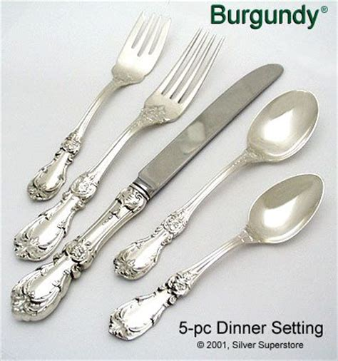 reed and barton burgundy sterling silver flatware at discount reed and barton