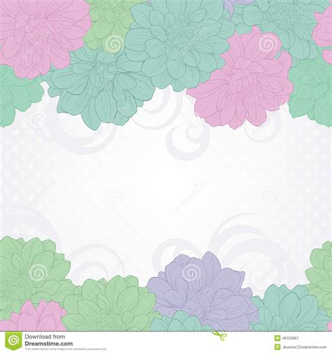 pastel color card templates floral background floral background wedding card or