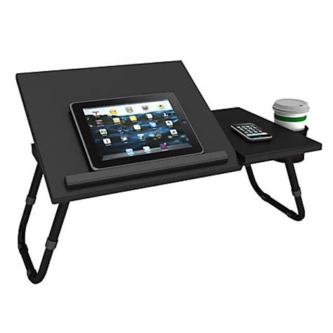 Atlantic Laptop Tray With Adjustable Legs Black By Office Desk Laptop Tray