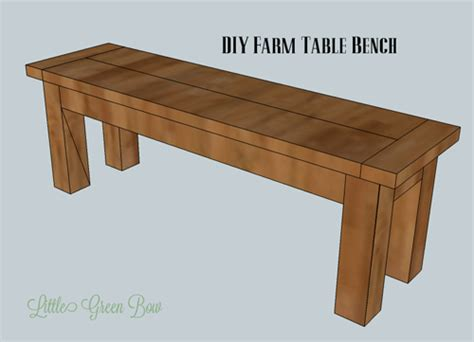 Diy Bench Plans For Dining Table Plans Free