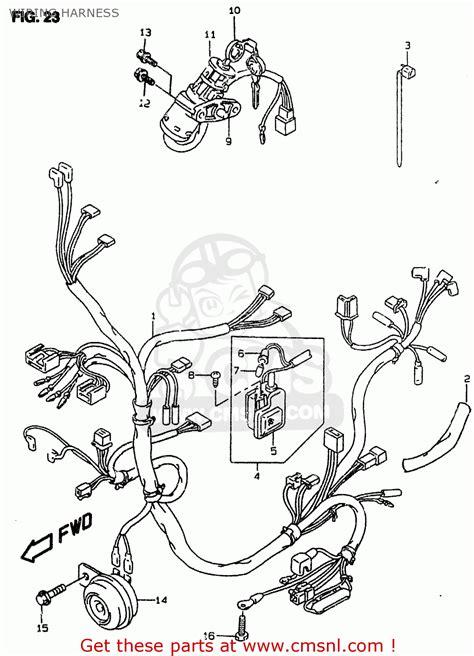 Suzuki Ay50wr 1999 X Wiring Harness Schematic Partsfiche