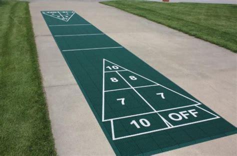 backyard shuffleboard court shuffleboard courts