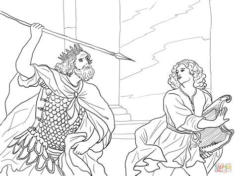 coloring page of king saul david spares saul coloring page buscar con google