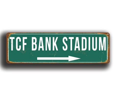 fcf bank tcf bank stadium sign vintage style classic metal signs