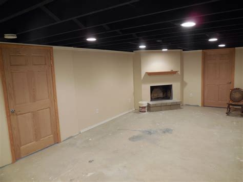 Best Way To Paint Basement Ceiling by Painted Basement Ceiling Ideas Best Basement Ideas