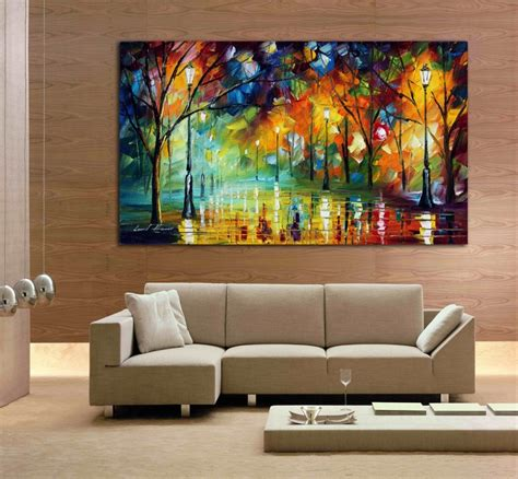 canvas for room 100 city at 3 knife painting modern living room wall canvas on