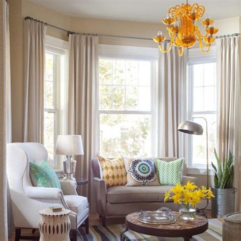 curtains on bay window ideas for treating a bay window behome blog