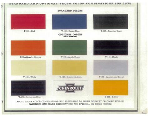 90 color codes chevy truck paint cross reference 1967 chevelle exterior paint codes 54 55