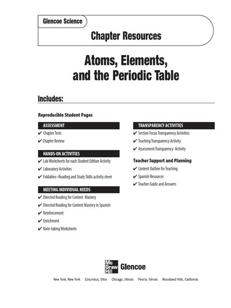 section 1 what is science glenceo atoms worksheet