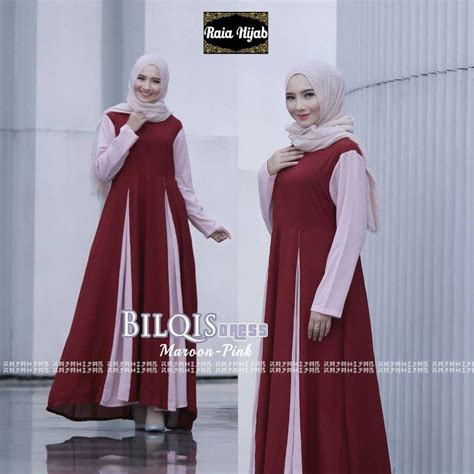 Bilqis Dress gaya muslim modern baju muslim terbaru bilqis dress by