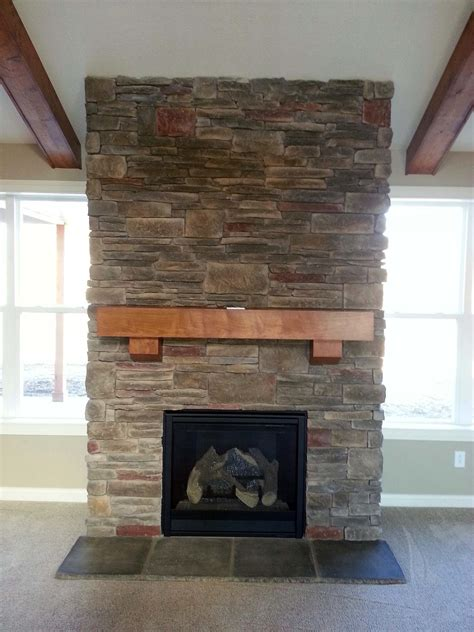 Cheap Home Interior Design Ideas by Decoration How To Build Stacks Stone Veneer Fireplace