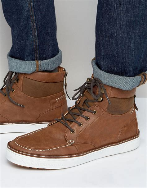call it boots mens call it larmour laceup boots in brown for lyst