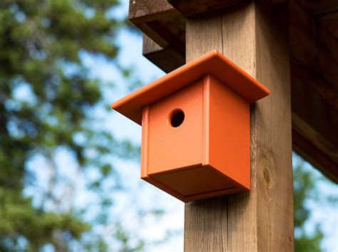 modern birdhouse made of recycled plastic loll designs