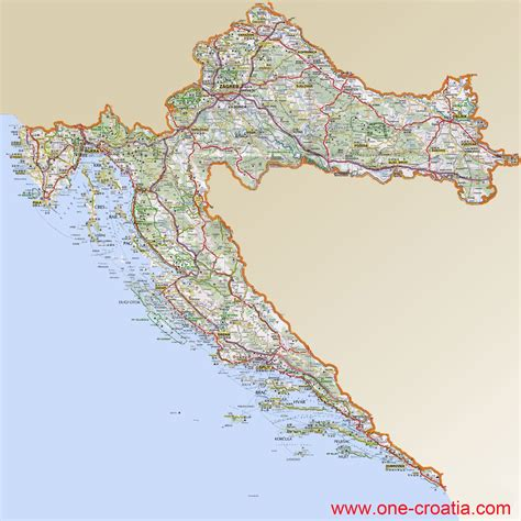 Croatia Search Map Of Croatia Map Of Croatian Regions Highway Tourist Spots Railway