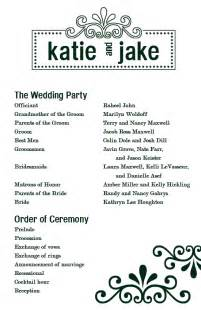 One Page Wedding Program Template best photos of one page wedding program wording one page