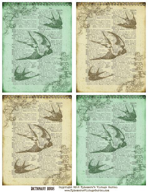 Garden Of Dictionary Ephemera S Vintage Garden Free Printable Vintage