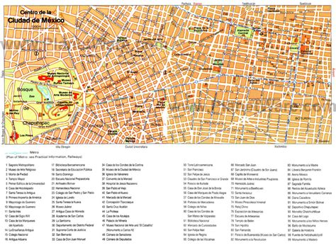 tourist map of mexico city 15 top tourist attractions in mexico city planetware