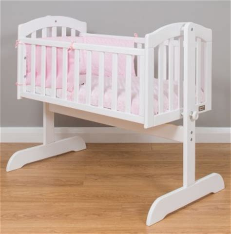 Swinging Crib Or Moses Basket by Stockholm White Swinging Cradle With Pink Dressings Mattress Moses Basket Cribs Nursery