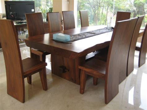 modern dining room tables solid wood busca modern