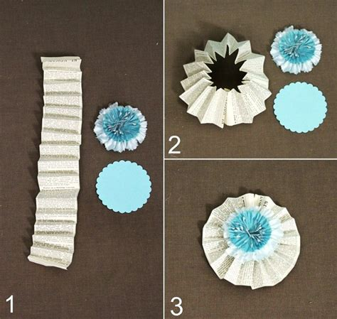 How To Make Paper Fan Flowers - paper crafts diy flowers celebrations at home